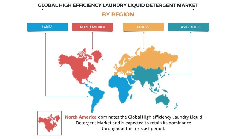 High-efficiency Laundry Liquid Detergent Market Market by Region