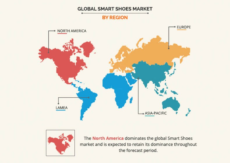 Global Smart Shoes Market  By Region