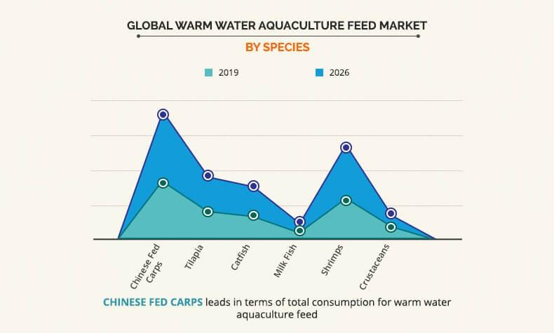 Warm Water Aquaculture Feed Market by species
