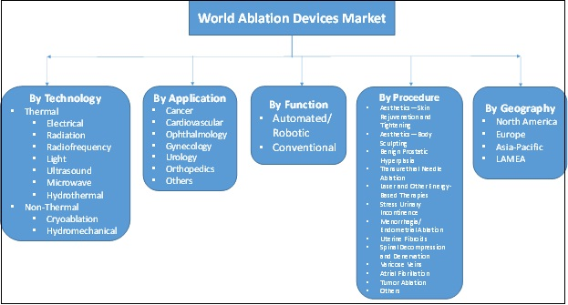 GLOBAL ABLATION DEVICES MARKET SEGMENTATION