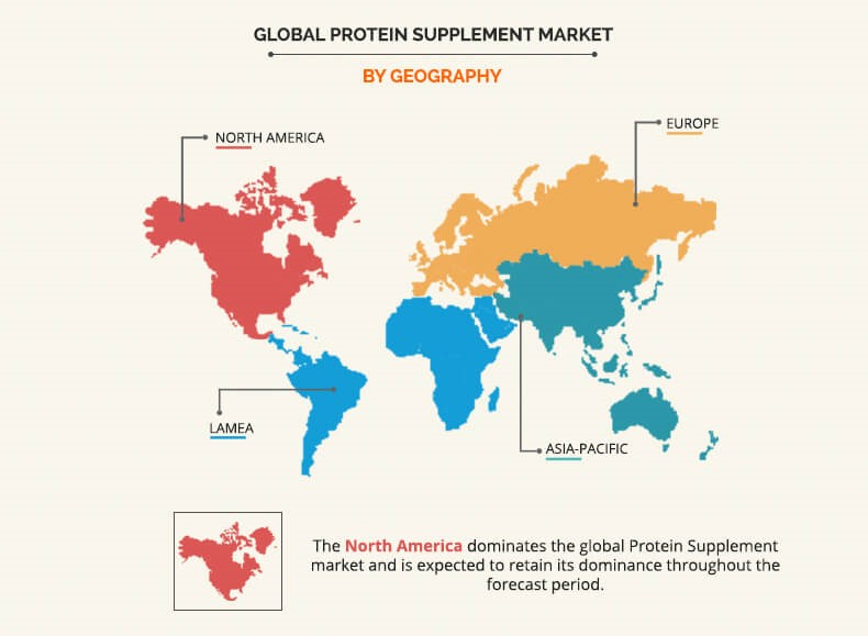 Protein supplement market by Geography