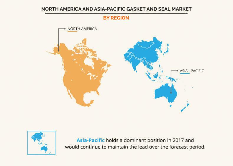 North America and Asia-Pacific Gasket and Seal Market by regional analysis